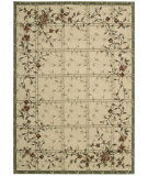 RugStudio presents Nourison Cambridge CG-07 Ivory-Green Machine Woven, Better Quality Area Rug