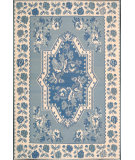 RugStudio presents Nourison Dakota DA-06 Ivory-Blue Flat-Woven Area Rug