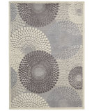 RugStudio presents Nourison Graphic Illusions GIL-04 Grey Machine Woven, Good Quality Area Rug