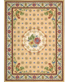 RugStudio presents Nourison Country Heritage H-301 Yellow Hand-Hooked Area Rug