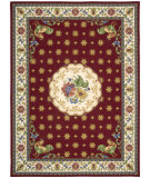 RugStudio presents Nourison Country Heritage H-301 Red Hand-Hooked Area Rug