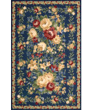 RugStudio presents Nourison Country Heritage H-303 Blue Hand-Hooked Area Rug