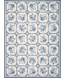 RugStudio presents Rugstudio Sample Sale 84357 Ivory-Blue Hand-Hooked Area Rug