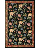 RugStudio presents Nourison Country Heritage H-320 Black Hand-Hooked Area Rug