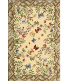RugStudio presents Nourison Country Heritage H-564 Yellow Hand-Hooked Area Rug