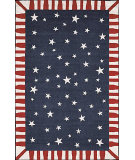 RugStudio presents Nourison Country Heritage H-645 Navy Hand-Hooked Area Rug