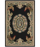 RugStudio presents Rugstudio Sample Sale 77224 Black Hand-Hooked Area Rug