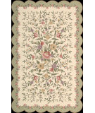 RugStudio presents Nourison Country Heritage H-722 Ivory Grey Hand-Hooked Area Rug