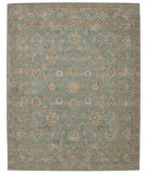 RugStudio presents Nourison Heritage Hall HE15 Aqua Hand-Tufted, Best Quality Area Rug