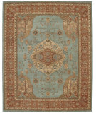 RugStudio presents Nourison Heritage Hall HE16 Aqua Hand-Tufted, Best Quality Area Rug
