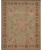 RugStudio presents Nourison Heritage Hall HE-26 Green Hand-Knotted, Better Quality Area Rug