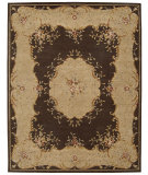 RugStudio presents Nourison Heritage Savonnerie HS-04 Brown Hand-Tufted, Best Quality Area Rug