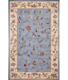 RugStudio presents Nourison Julian JL-47 Light Blue Hand-Tufted, Better Quality Area Rug