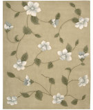 RugStudio presents Nourison Julian JL-61 Light Gold Hand-Tufted, Better Quality Area Rug