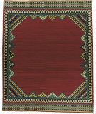 RugStudio presents Nourison Mongol Kilim K-365 Red Flat-Woven Area Rug