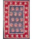 RugStudio presents Nourison Mongol Kilim K-373 Grey Flat-Woven Area Rug