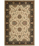 RugStudio presents Nourison Living Treasures LI-04 Ivory-Black Machine Woven, Best Quality Area Rug