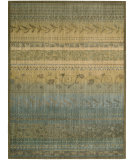 RugStudio presents Nourison Radiant Impressions LK-02 Teal Machine Woven, Best Quality Area Rug