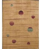 RugStudio presents Nourison Parallels PR-05 Gold Machine Woven, Better Quality Area Rug