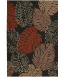 RugStudio presents Nourison Rainforest RAI02 Black Hand-Tufted, Good Quality Area Rug