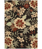 RugStudio presents Nourison Rainforest RAI03 Black Hand-Tufted, Good Quality Area Rug
