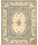 RugStudio presents Nourison Chateau Provence SB-08 Blue Hand-Tufted, Best Quality Area Rug