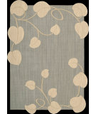 RugStudio presents Nourison Silhouettes SIL-04 Light Blue Machine Woven, Good Quality Area Rug