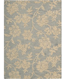 RugStudio presents Nourison Skyland SKY-07 Blue-Beige Hand-Tufted, Better Quality Area Rug