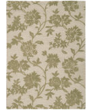 RugStudio presents Nourison Skyland SKY-07 Ivory-Green Hand-Tufted, Better Quality Area Rug