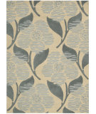 RugStudio presents Nourison Skyland SKY-09 Beige Blue Hand-Tufted, Better Quality Area Rug