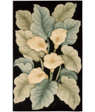 RugStudio presents Nourison Tropics TS-08 Black Hand-Tufted, Best Quality Area Rug