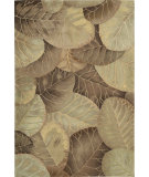 RugStudio presents Nourison Tropics TS-12 Brown-Green Hand-Tufted, Best Quality Area Rug