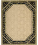 RugStudio presents Nourison Vallencierre VA-35 Beige-Black Machine Woven, Best Quality Area Rug