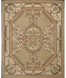 RugStudio presents Nourison Versailles Palace VP-03 Beige Light Sage Hand-Tufted, Good Quality Area Rug