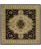 RugStudio presents Nourison Versailles Palace VP-14 Black Hand-Tufted, Best Quality Area Rug