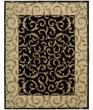 RugStudio presents Nourison Versailles Palace VP-43 Black Hand-Tufted, Best Quality Area Rug