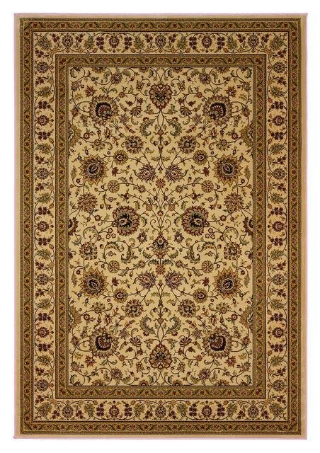 828 Greenville Collection 1-1004-71 Antique Ivory with Antique Ivory Border Area Rug