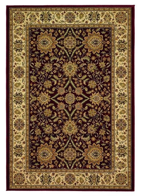 828 Greenville Collection 1-1005-05 Burgandy Area Rug - 45229