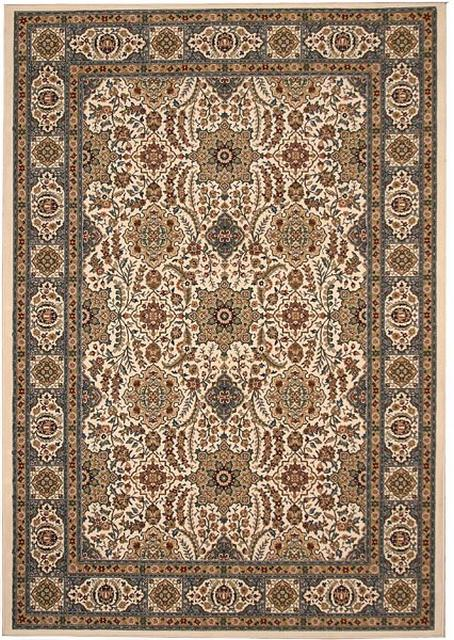 828 Greenville Collection 1-1040-70 Ivory with Light Blue on Border Area Rug