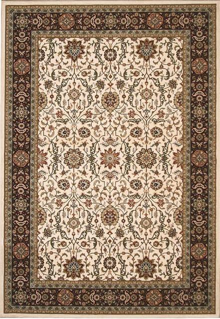 828 Greenville Collection 1-1042-70 Ivory with Burgandy Border Area Rug - 45240
