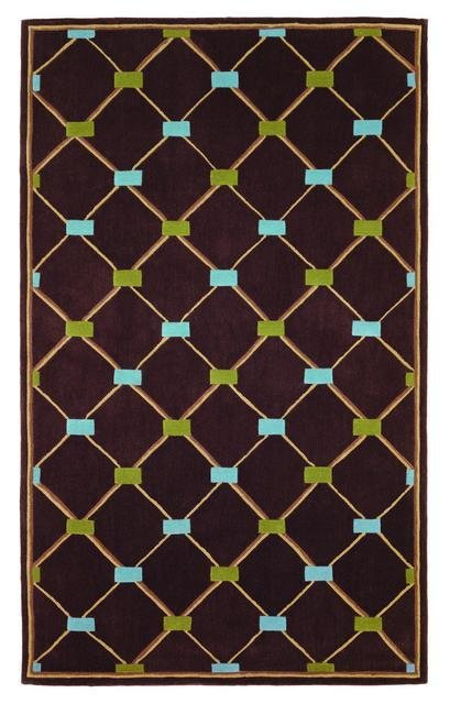 828 Mirage Collection 3-0544-80 Brown-Blue-Green Area Rug