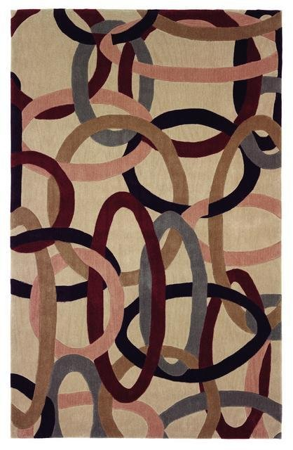 828 Mirage Collection 3-0555-99 Ivory-Multi Area Rug
