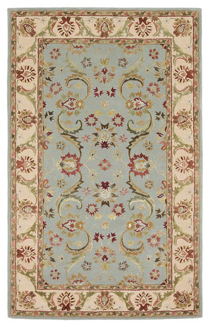 828 Ellington Collection EL02 Blue with Ivory Border Area Rug| Size| 2'3 X 8 Runner - 45216x1