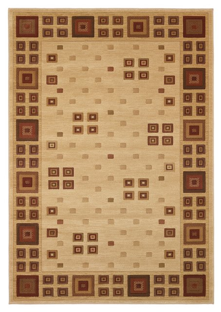 828 Laguna Collection LG03 Ivory-Red Area Rug