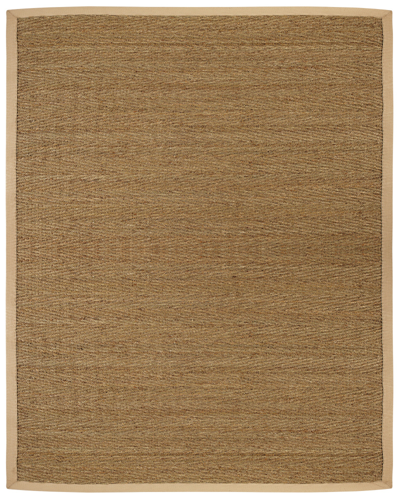 Anji Mountain Seagrass Saddleback Area Rug| Size| 10' X 14' with 5cm border - 69733x8