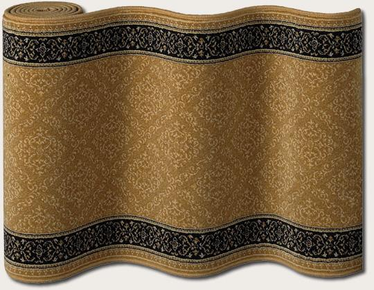 Couristan English Manor Manchester 3229-0002 Gold A Custom Length Runner - 24530