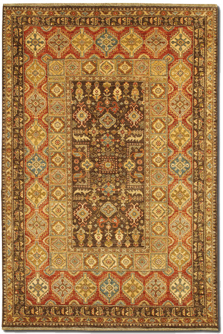 Couristan Lahore Marasali Brown - Rust Area Rug Clearance| Size| 2 x 4 - 172996x1