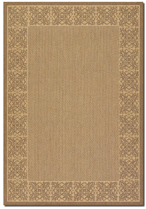 Couristan Recife Summer Chimes Natural - Cocoa Area Rug Clearance| Size| 2'3 x 11'9 Runner - 173293x1