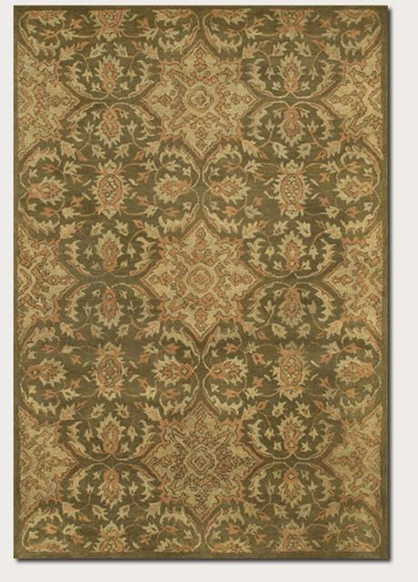 Rugstudio Famous Maker 39603 Wheat-Sage Area Rug Last Chance - 39603