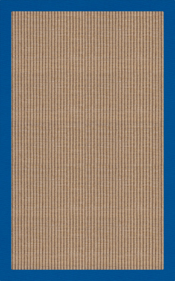 RugStudio Riley EB1 wheat 109 cobalt Area Rug| Size| 2' X 8' Runner - 69390x2